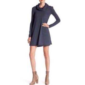 NWT Socialite Maddie Navy Cowl Mini Swing Dress
